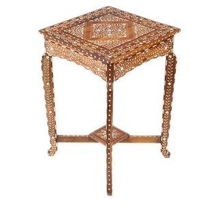 Indian Bone Inlaid Side Table