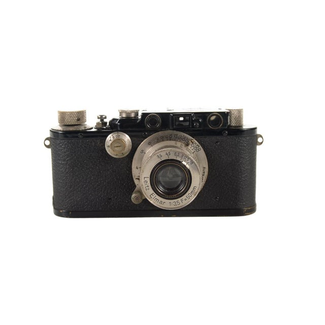 1930s Leica III Black Camera With 5cm Elmar Lens - Image 3 of 10