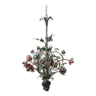 6-Light French Wrought Iron Chandelier