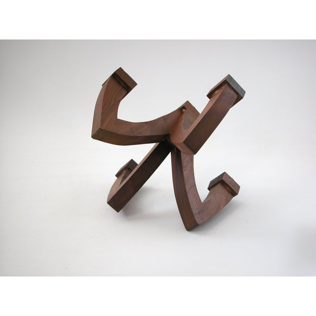 Mid-Century Wood Candle Holder - Image 7 of 9