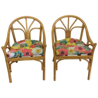 Bamboo Casual Chairs - Pair