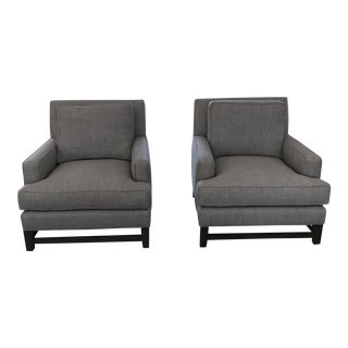 Pelham Kravet Club Chairs - A Pair