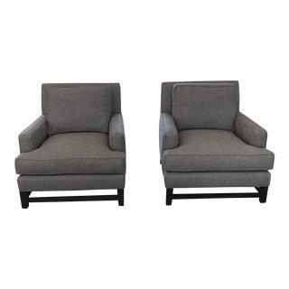 Pelham Kravet Club Chairs - A Pair