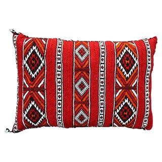 Diamonds & X-Pattern Moroccan Pillow