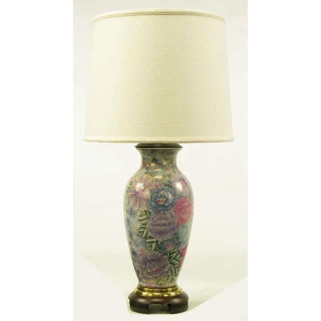 Frederick Cooper Hand Painted & Gilt Porcelain Vase Table Lamp - Image 3 of 8
