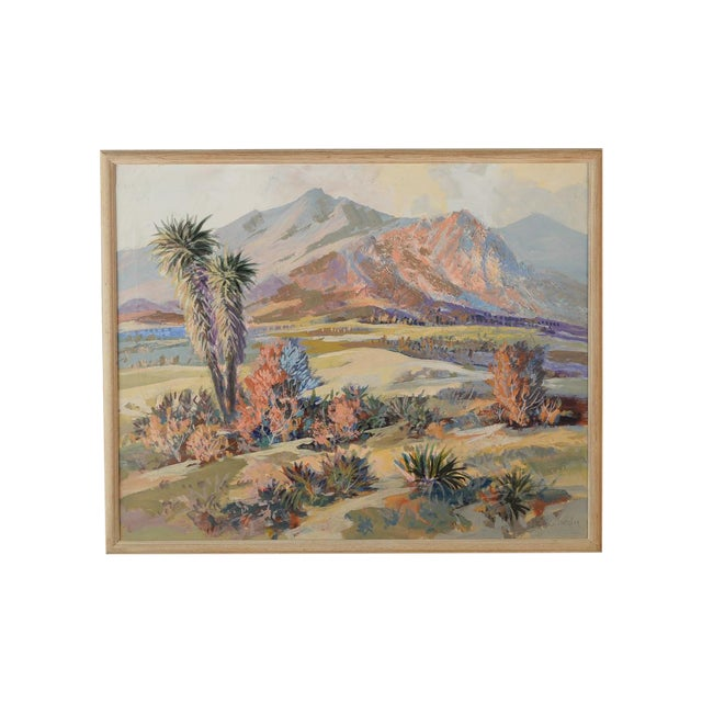 Indio Hills & Valley Desert Landscape Painting - Image 1 of 10