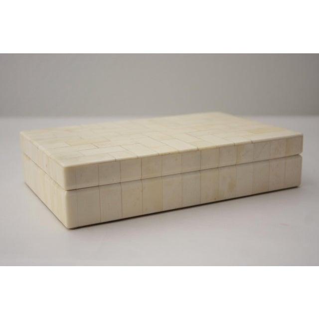 Tessellated Bone Trinket Box - Image 4 of 11