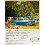 Image of 1960s Ford Fairlane Matted Advertisement