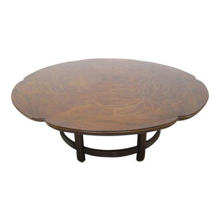 John Widdicomb Inlay Top Coffee Table