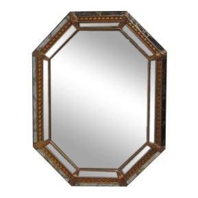 Vintage Italian Venetian Decorator Hanging Wall Console Mirror