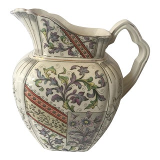 Large Antique Transferware Pitcher