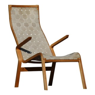 Bruno Mathsson-Style Lounge Chair