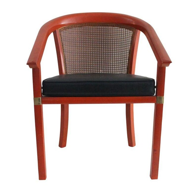 Mid Century Occasional Chair with Cane Back - Image 1 of 3