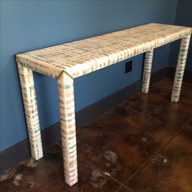 Upholstered Sofa Table - Image 9 of 11