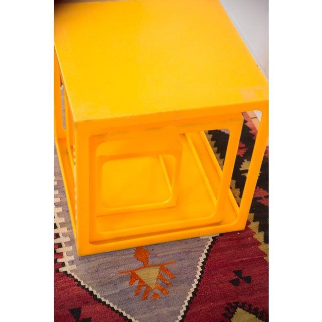 Retro Tangerine Nesting Cubes- Set of 3 - Image 6 of 6