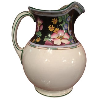 Large Floral Losol Ware Pitcher