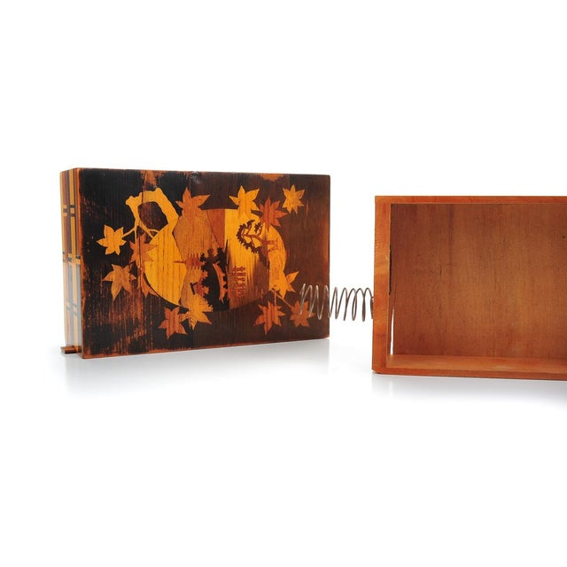 Image of Antique Japanese Inlaid Box with Concealed Drawer