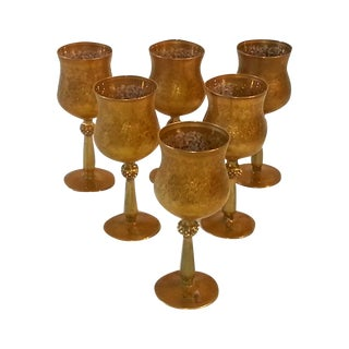 Arte Italica Goblets with Gold Leaf - Set of 6