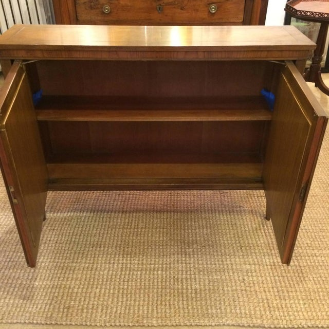 Baker Walnut Mirrored Credenza Console Cabinet - Image 8 of 8