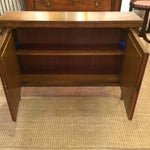 Image of Baker Walnut Mirrored Credenza Console Cabinet