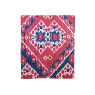 Uzbek Silk Ikat Fragment