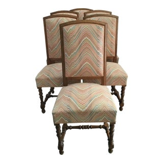 French Oak Dining Chairs - Set of 6