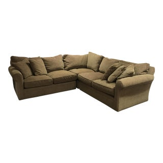 Huntley Crate & Barrel With Upgraded Cushions & 5 Pillows Included