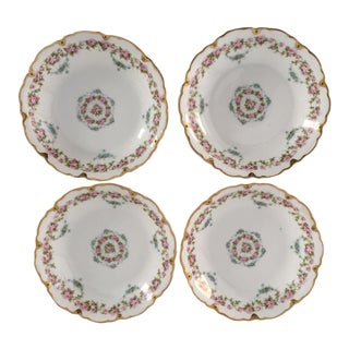 Antique French Floral Berry or Dessert Bowls - Set of 4