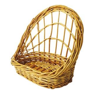 Vintage Wall Basket Shelf