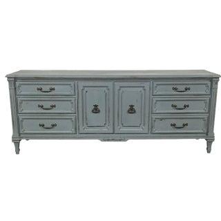 Vintage Gray-Blue Credenza