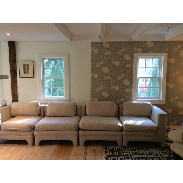Milo Baughman Style Sectional Couch - Image 2 of 11