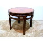Image of Baker Sunburst Inlay Side Table