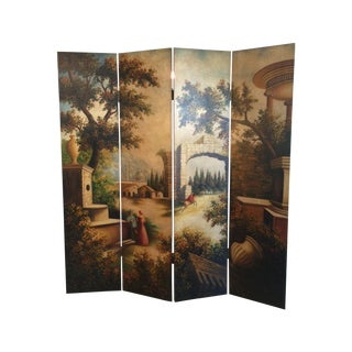 Traditional Hand Painted Screen