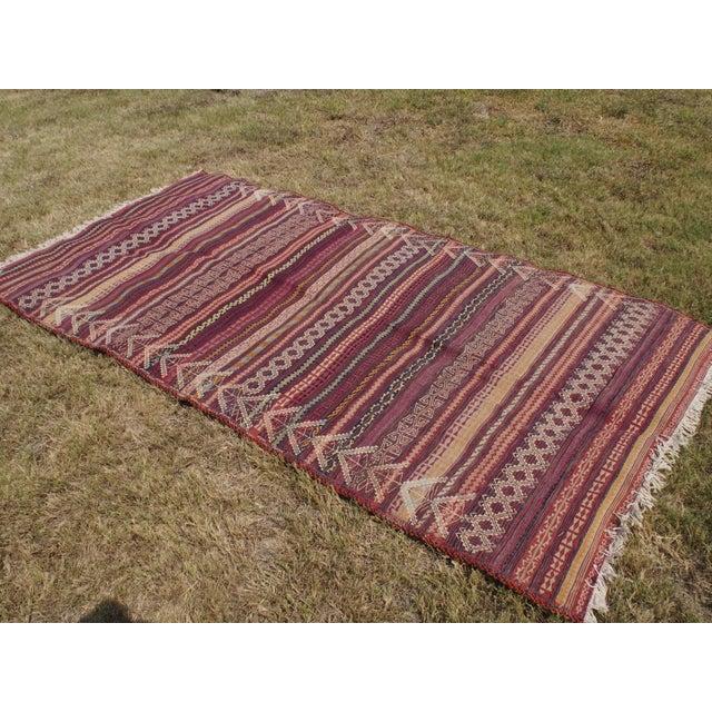 Traditional Handmade Kilim Rug - 4′6″ × 8′1″ - Image 5 of 9