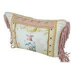 Image of Designer Schumacher Chinese Vase And Silk Pillow
