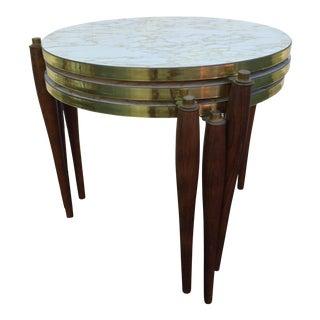 Mid-Century Marble Laminate Nesting Tables - Set of 3