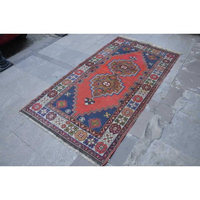 Vintage Turkish Handmade Rug - 4′1″ × 7′8″ - Image 3 of 6