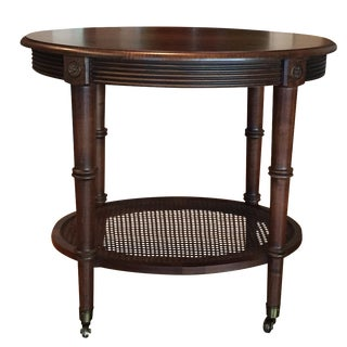 Oval Side Table by Ethan Allen