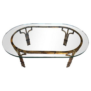 Bamboo-Style Gilt Coffee Table