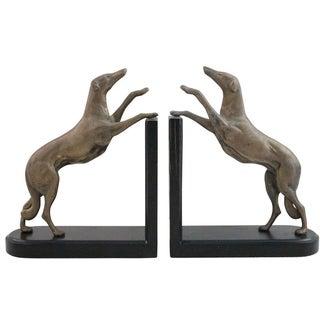 Brass Greyhound Bookends - A Pair