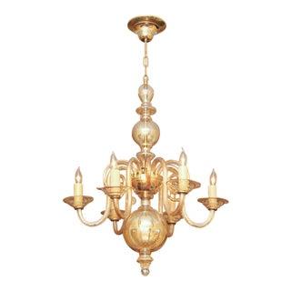 Czechoslovakian Glass Chandelier