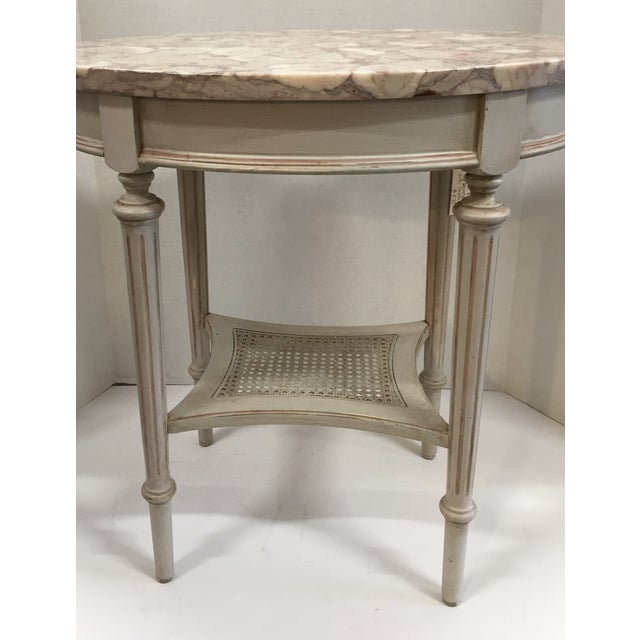 French Marble Top Side Table - Image 3 of 10