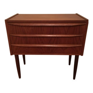 Danish Mid Century Modern 3 Drawer Side Table