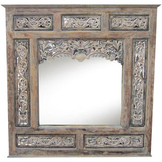 Carved Mirror with Carved Panels