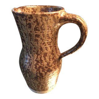 French Vintage Artisan Studio Pottery Pitcher