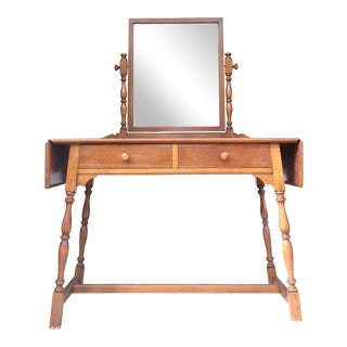 Stickley Vintage Cherry Drop Leaf Vanity