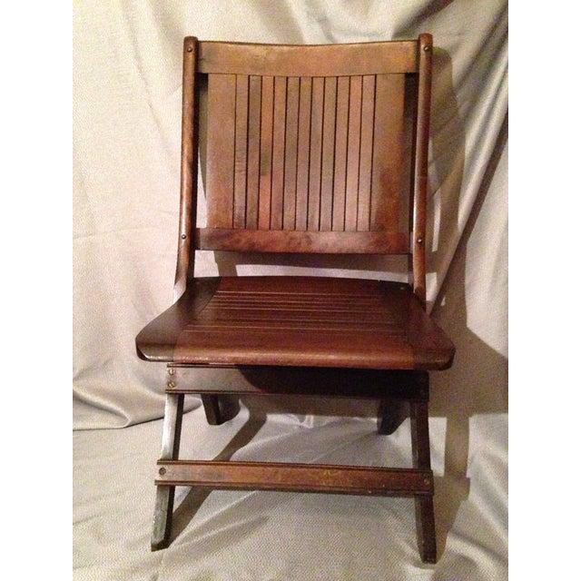 Eight Antique 1880-1890 Readsboro Wooden Folding Chairs - Image 7 of 9 - Eight Antique 1880-1890 Readsboro Wooden Folding Chairs Chairish