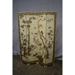 Image of Vintage Chinoiserie Painted Folding Screen