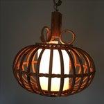 Image of Mid-Century Boho Chic Bamboo Pendant Light