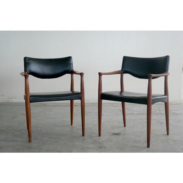 Image of Bender Madsen Mid-Century Teak Chairs - A Pair